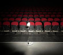The Ghost light illuminating Canberra REP stage - COVID Lockdown 2021